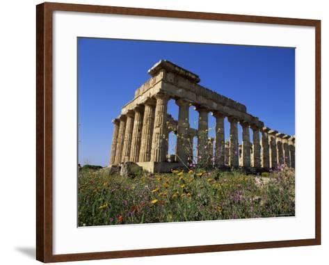 Temple E, Dating from 5th Century Bc, Selinunte, Near Castelventrano, Sicily, Italy-Richard Ashworth-Framed Art Print