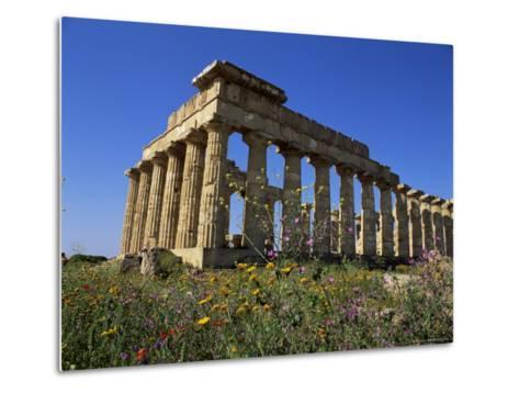 Temple E, Dating from 5th Century Bc, Selinunte, Near Castelventrano, Sicily, Italy-Richard Ashworth-Metal Print