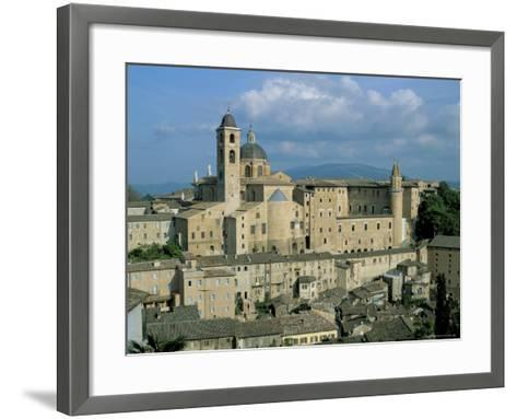 View from the North of the Old Centre of Urbino with the Cathedral Left and Palazzo Ducale Right-Richard Ashworth-Framed Art Print
