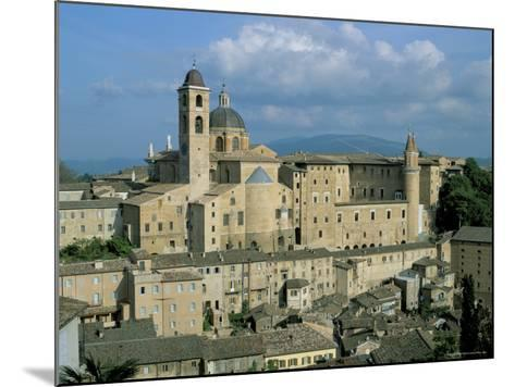 View from the North of the Old Centre of Urbino with the Cathedral Left and Palazzo Ducale Right-Richard Ashworth-Mounted Photographic Print