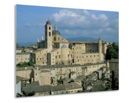 View from the North of the Old Centre of Urbino with the Cathedral Left and Palazzo Ducale Right-Richard Ashworth-Metal Print