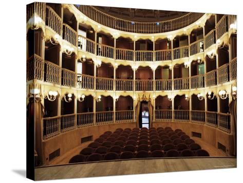 Teatro Torti, Within the Gothic Shell of Former Palazzo Dei Consoli, Umbria-Richard Ashworth-Stretched Canvas Print