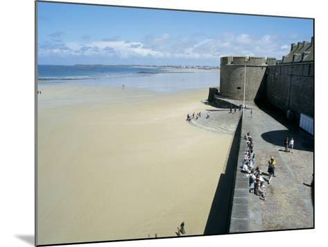 Ramparts of Old Town and Beach to the Northwest of St. Malo, Brittany, France-Richard Ashworth-Mounted Photographic Print