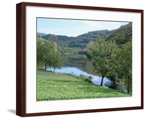 Lettuce Cultivation in Foreground, Near Port d'Acres, Midi-Pyrenees, France-Richard Ashworth-Framed Art Print