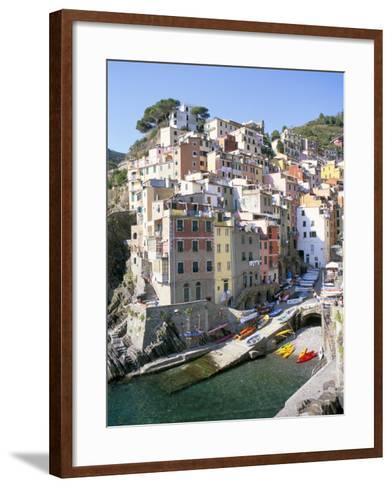 Village of Riomaggiore, Cinque Terre, Unesco World Heritage Site, Liguria, Italy-Richard Ashworth-Framed Art Print