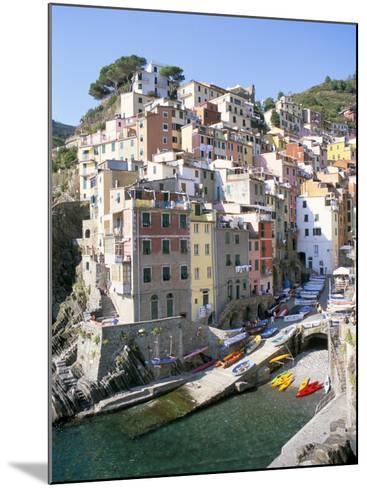 Village of Riomaggiore, Cinque Terre, Unesco World Heritage Site, Liguria, Italy-Richard Ashworth-Mounted Photographic Print