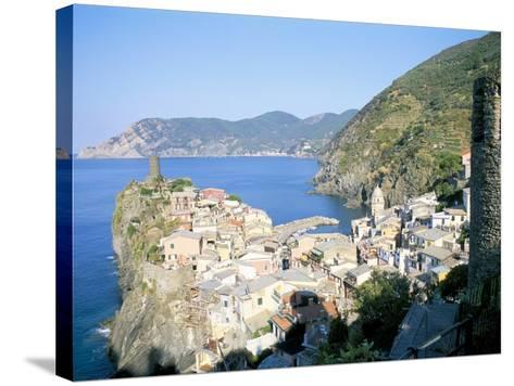 Village of Vernazza, from the East, Cinque Terre, Unesco World Heritage Site, Liguria, Italy-Richard Ashworth-Stretched Canvas Print