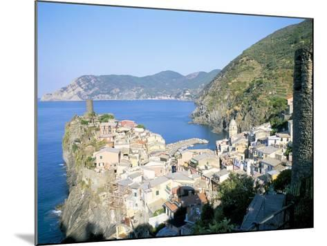 Village of Vernazza, from the East, Cinque Terre, Unesco World Heritage Site, Liguria, Italy-Richard Ashworth-Mounted Photographic Print