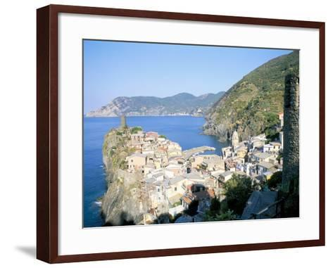 Village of Vernazza, from the East, Cinque Terre, Unesco World Heritage Site, Liguria, Italy-Richard Ashworth-Framed Art Print