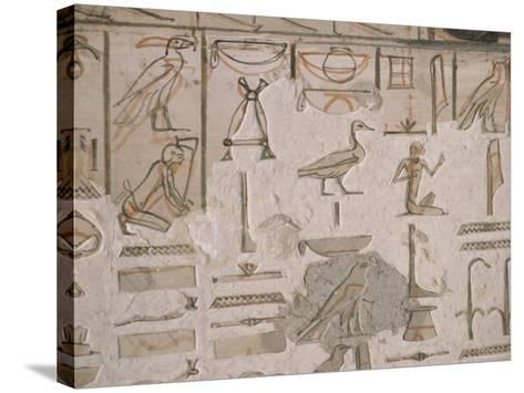 Tomb of Horemheb, Valley of the Kings, Thebes, Unesco World Heritage Site, Egypt-Richard Ashworth-Stretched Canvas Print
