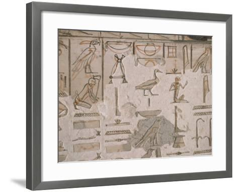 Tomb of Horemheb, Valley of the Kings, Thebes, Unesco World Heritage Site, Egypt-Richard Ashworth-Framed Art Print