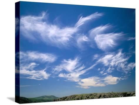 Cirrus Clouds, Tien Shan Mountains, Kazakhstan, Central Asia-N A Callow-Stretched Canvas Print