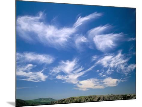 Cirrus Clouds, Tien Shan Mountains, Kazakhstan, Central Asia-N A Callow-Mounted Photographic Print