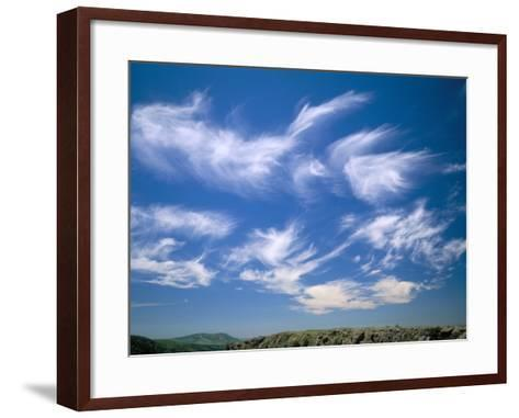 Cirrus Clouds, Tien Shan Mountains, Kazakhstan, Central Asia-N A Callow-Framed Art Print
