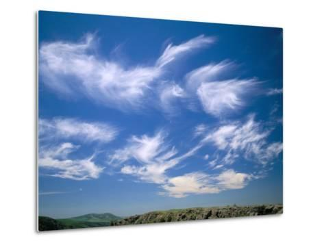 Cirrus Clouds, Tien Shan Mountains, Kazakhstan, Central Asia-N A Callow-Metal Print