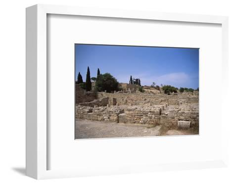 Remains of Roman Villas, Carthage, Unesco World Heritage Site, Tunisia, North Africa, Africa-Nelly Boyd-Framed Art Print