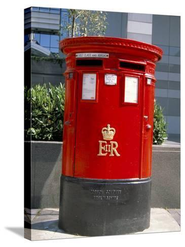 Red Post Box, London, England, United Kingdom-Nelly Boyd-Stretched Canvas Print