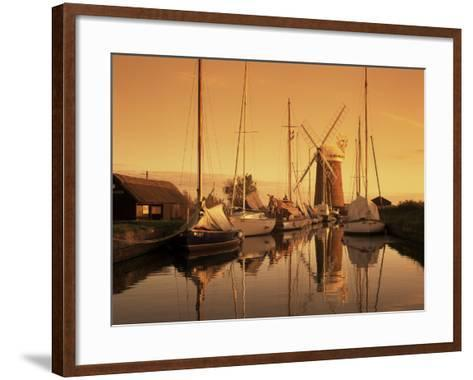 Horsey Windmill, Norfolk, England, United Kingdom-Charcrit Boonsom-Framed Art Print