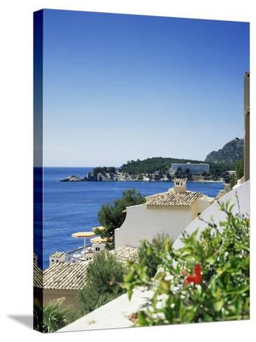 Cala Fornella, Majorca, Balearic Islands, Spain, Mediterranean-L Bond-Stretched Canvas Print