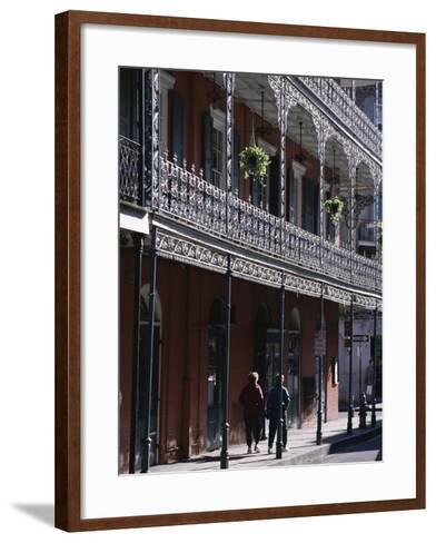 French Quarter, New Orleans, Louisiana, United States of America (Usa), North America-Charles Bowman-Framed Art Print