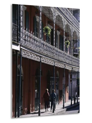 French Quarter, New Orleans, Louisiana, United States of America (Usa), North America-Charles Bowman-Metal Print