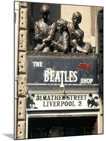 Statues of the Beatles, the Cavern Quarter, Liverpool, England, United Kingdom-Charles Bowman-Mounted Photographic Print
