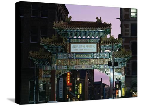 China Town, Manchester, England, United Kingdom-Charles Bowman-Stretched Canvas Print