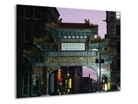 China Town, Manchester, England, United Kingdom-Charles Bowman-Metal Print