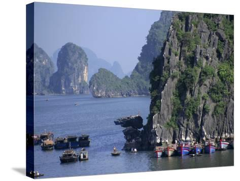 Ha Long (Ha-Long) Bay, Unesco World Heritage Site, Vietnam, Indochina, Southeast Asia-Charles Bowman-Stretched Canvas Print