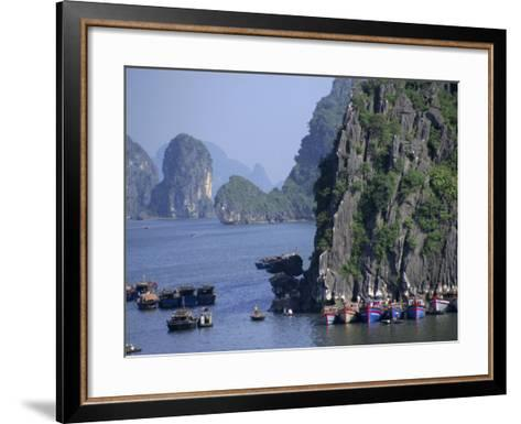 Ha Long (Ha-Long) Bay, Unesco World Heritage Site, Vietnam, Indochina, Southeast Asia-Charles Bowman-Framed Art Print