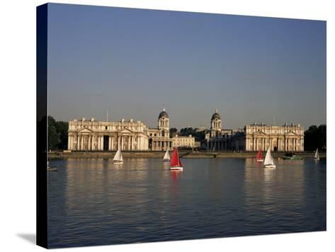 Royal Naval College, Greenwich, Unesco World Heritage Site, London, England, United Kingdom-Charles Bowman-Stretched Canvas Print