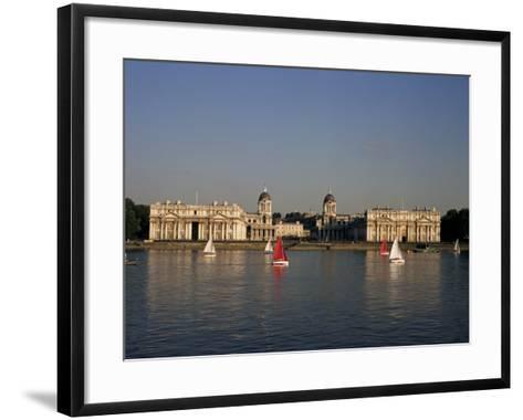 Royal Naval College, Greenwich, Unesco World Heritage Site, London, England, United Kingdom-Charles Bowman-Framed Art Print