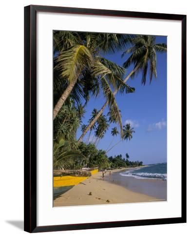 Palm Trees and Beach, Unawatuna, Sri Lanka-Charles Bowman-Framed Art Print