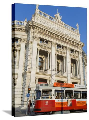 Hofburgtheatre with Tram, Vienna, Austria-Charles Bowman-Stretched Canvas Print