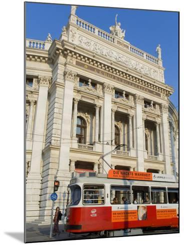 Hofburgtheatre with Tram, Vienna, Austria-Charles Bowman-Mounted Photographic Print