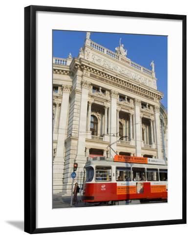 Hofburgtheatre with Tram, Vienna, Austria-Charles Bowman-Framed Art Print
