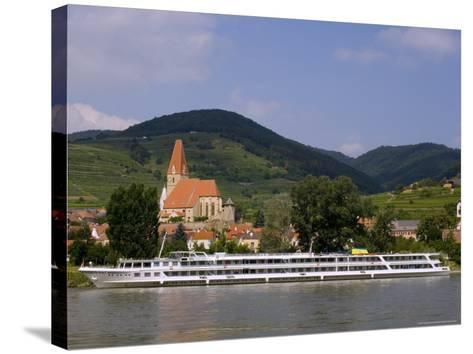 Weissenkirchen Pfarrkirche and Vineyards, Wachau, UNESCO World Heritage Site, Lower Austria-Charles Bowman-Stretched Canvas Print