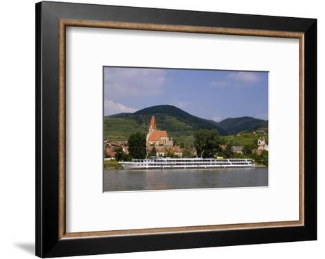 Weissenkirchen Pfarrkirche and Vineyards, Wachau, UNESCO World Heritage Site, Lower Austria-Charles Bowman-Framed Art Print