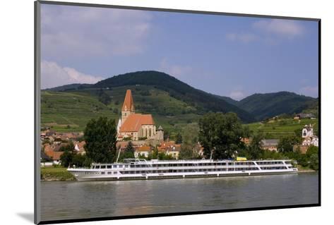 Weissenkirchen Pfarrkirche and Vineyards, Wachau, UNESCO World Heritage Site, Lower Austria-Charles Bowman-Mounted Photographic Print