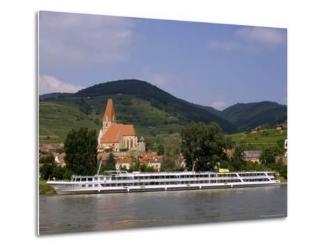 Weissenkirchen Pfarrkirche and Vineyards, Wachau, UNESCO World Heritage Site, Lower Austria-Charles Bowman-Metal Print