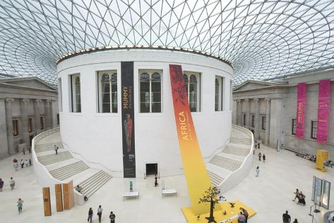 Great Court, British Museum, London, England, United Kingdom-Charles Bowman-Stretched Canvas Print