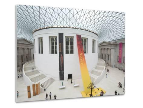 Great Court, British Museum, London, England, United Kingdom-Charles Bowman-Metal Print