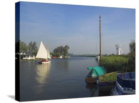 Thurne Broad, Norfolk, England, United Kingdom-Charles Bowman-Stretched Canvas Print