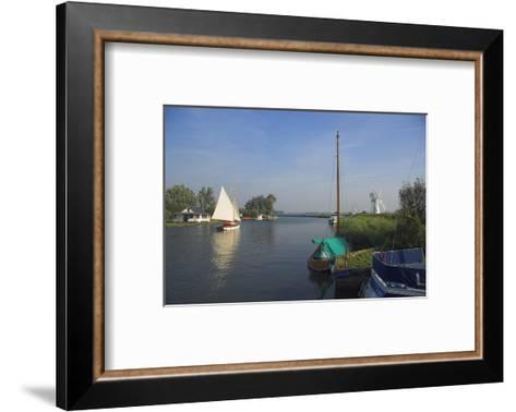 Thurne Broad, Norfolk, England, United Kingdom-Charles Bowman-Framed Art Print