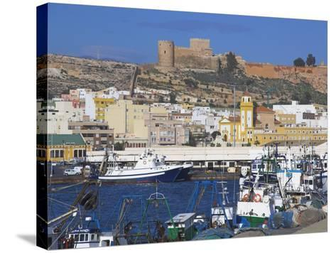 Port and Alcazaba, Almeria, Andalucia, Spain-Charles Bowman-Stretched Canvas Print