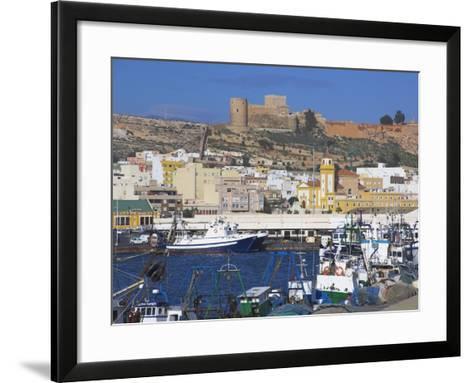 Port and Alcazaba, Almeria, Andalucia, Spain-Charles Bowman-Framed Art Print