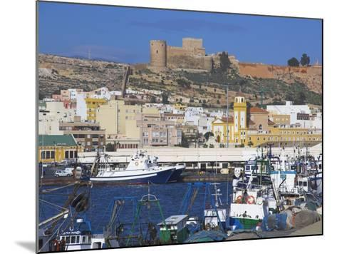 Port and Alcazaba, Almeria, Andalucia, Spain-Charles Bowman-Mounted Photographic Print