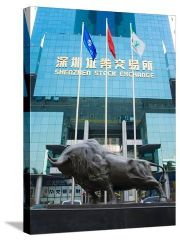 Stock Exchange, Shenzhen Special Economic Zone (S.E.Z.), Guangdong, China-Charles Bowman-Stretched Canvas Print
