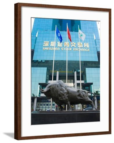 Stock Exchange, Shenzhen Special Economic Zone (S.E.Z.), Guangdong, China-Charles Bowman-Framed Art Print