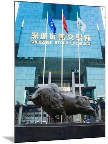 Stock Exchange, Shenzhen Special Economic Zone (S.E.Z.), Guangdong, China-Charles Bowman-Mounted Photographic Print